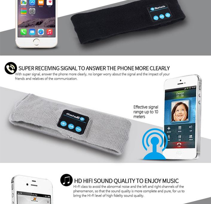 Wireless Bluetooth Headband with Mic